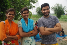 Some of the tutors we are training, at one of the slums in India where Charity United's educational programs are in place.