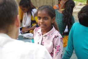 Classes being held at one of the slums in India where Charity United's educational programs are in operation.