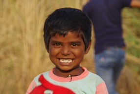 At one of the slums in India where Charity United's educational programs are in place.