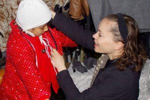 Megan with Refugee Child