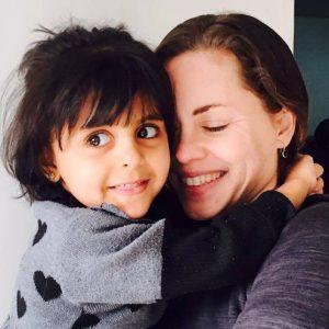 Megan and Refugee Child